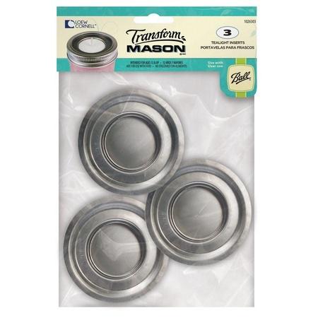 Ball 1026303 Transform Mason Tea Light Lid Insert 3 Count
