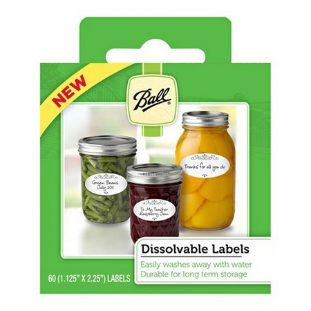 Ball 10734 Dissolvable Labels, 60-count