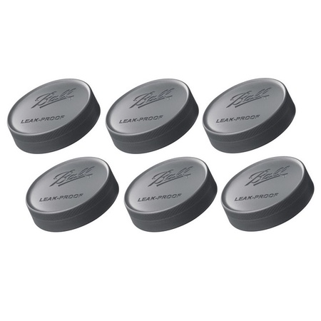 Ball 10812 Regular Mouth Black Storage Lids 6 Pack