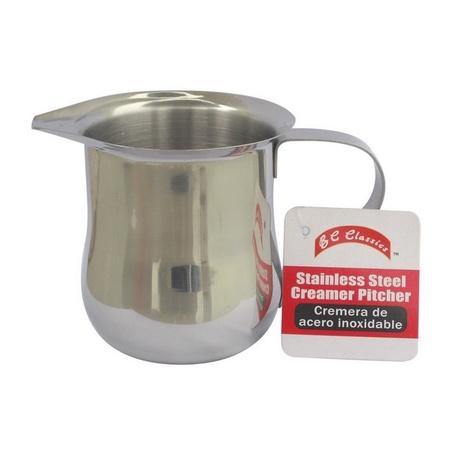 Bene Casa 65183 Stainless Steel Creamer Pitcher, 8 Ounces
