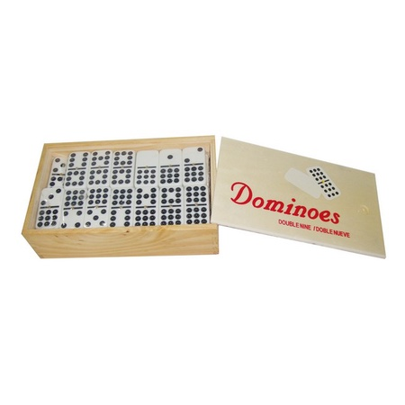 Bene Casa BC-53262 Double 9 Domino Set with Wooden Box