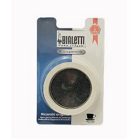 Bialetti 06604/07013 Gasket and Stainless Filter Plate, 6 Cup