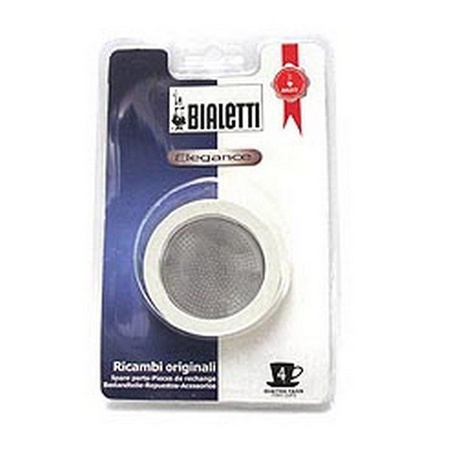 Bialetti 06616/07011 Gasket & Stainless Filter Plate, 4 Cup