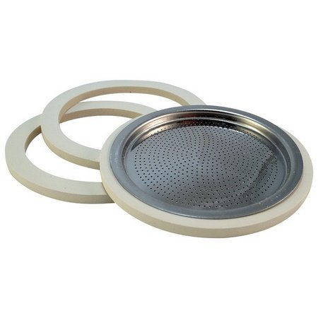 Bialetti 06617/07016 Gasket and Stainless Steel Filter Plate, 10 Cup