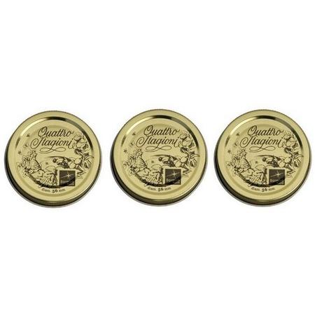"""Bormioli Rocco 2-1/4"""", 56mm Quattro Stagioni Lids, 3 Pieces"""