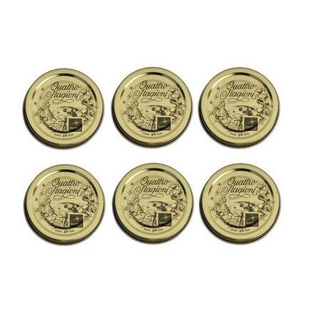 """Bormioli Rocco 2-1/4"""", 56mm Quattro Stagioni Lids, 6 Pieces"""