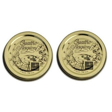"""Bormioli Rocco 2-3/4"""", 70mm Quattro Stagioni Lids, 2 Pieces"""