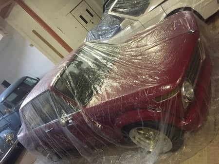 Car Condom Disposable Clear Plastic Car Cover with Elastic Band Medium Size 21 x 12.5