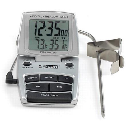 Cdn Dttc-s Digital Probe Thermometer, Silver