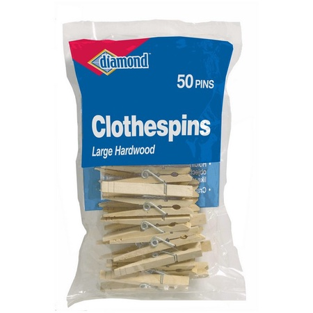 Diamond 01261 Wood Clothespins 50 Count