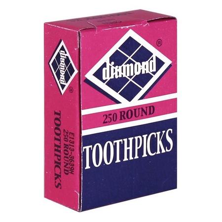 Diamond 41860 Round Toothpicks 250 Count
