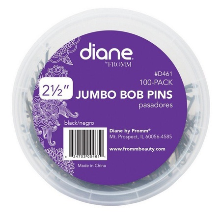 Diane by Fromm D461 Black Jumbo Pins 100 Pack