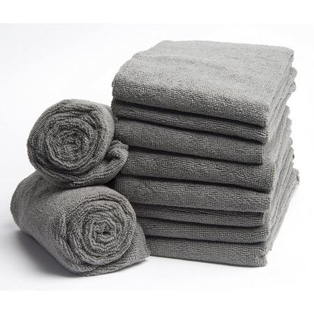 Diane 45015 Softees Gray Microfiber Towels 10 Pack