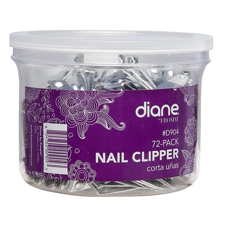 Diane D904 Nail Clippers with Fold-out File 72-Pack