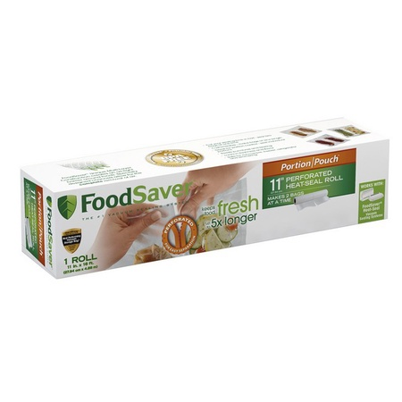 "FoodSaver 11"" x 16' Portion Pouch Heat-Seal Roll Bag"