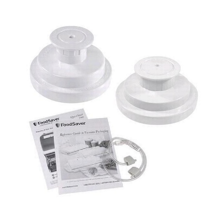FoodSaver Jar Sealer Kit  Wide and Regular Mouth Jar Sealer and Accessory Hose