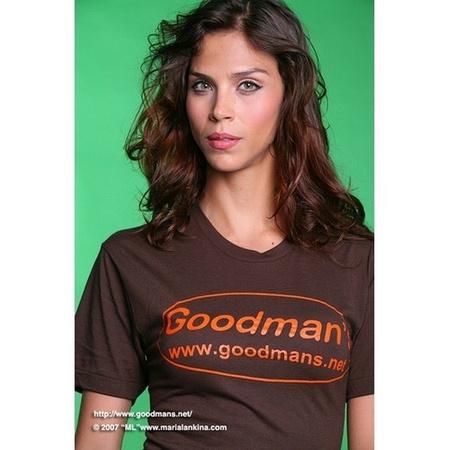 Goodman's Brown American Apparel T-shirt Medium