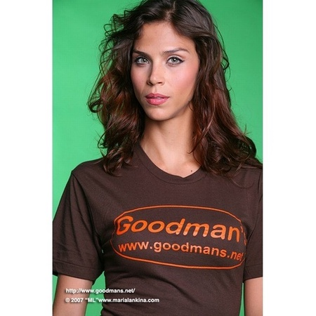 Goodman's Brown American Apparel T-shirt Small