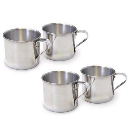 IMUSA R200-12 Aluminum Drinking Cup Mug 1.25 Quart 4 Pack