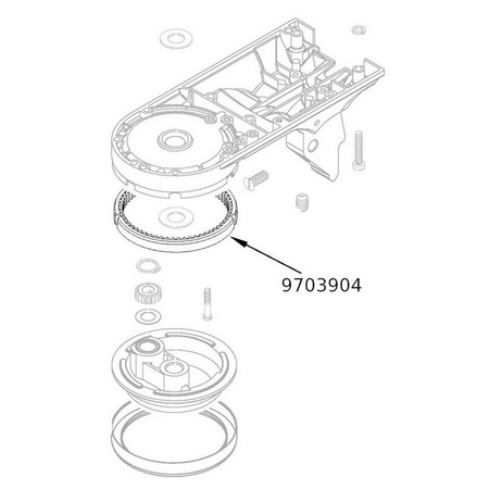 Kitchenaid 9703904/4161402/4169851 Ring Gear