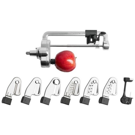 KitchenAid KSM2APC Mixer Spiralizer Peel Core Slice Attachment 6-Blade