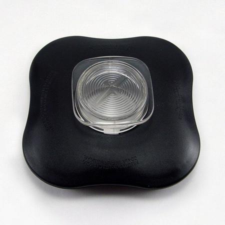Lid and Center Cap for Clover Leaf Shaped Oster Blender Jars, Black