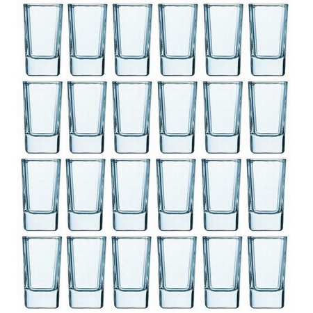 Luminarc 2.75-ounce Tall Square Shot Glasses, 24 Pack
