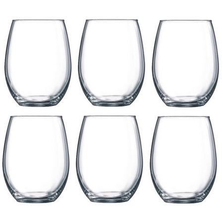 Luminarc Cachet 15-ounce Stemless Wine Glasses, 6 Pack