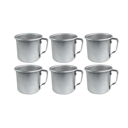 Mian 12 Ounce Aluminum Country Camping Mug Drinking Cup 6 Pack