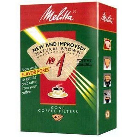 Melitta 620122 #1 Natural Brown Coffee Filters, 40 Count
