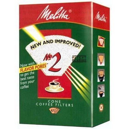 Melitta 622712 #2 White Coffee Filters, 100 Count