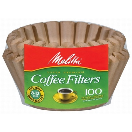 Melitta 629092 Natural Brown 8-12 Cup Coffee Filters, 100 Count