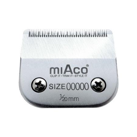 Miaco Size 00000 Detachable Clipper Blade  fits Oster Classic 76, Andis BGC, BGR, BGRC, MBG