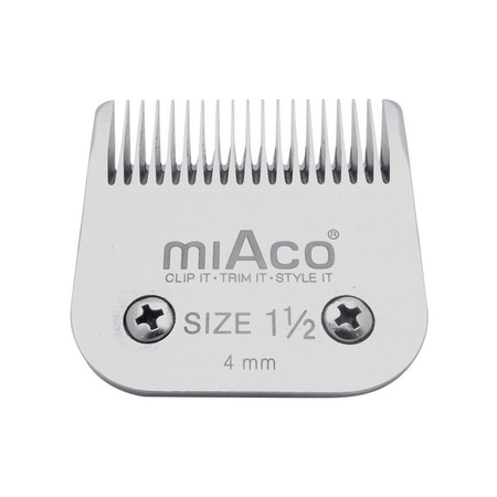 Miaco Size 1.5 Detachable Clipper Blade fits Oster Classic 76, Andis BGC, BGR, BGRC, MBG