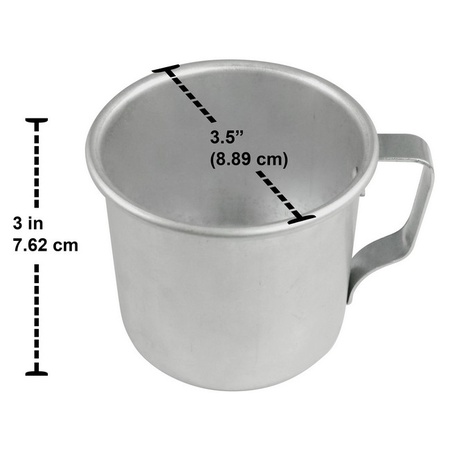 Mian 12 Ounce Aluminum Country Camping Mug Drinking Cup 24 Pieces