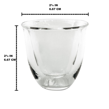 Mian Double Walled Thermo Espresso Glasses, Set of 4