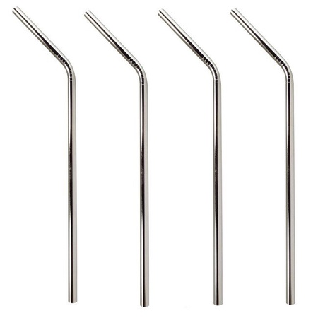 Mian Stainless Steel Drinking Straws 4 Pack with Cleaning Brush