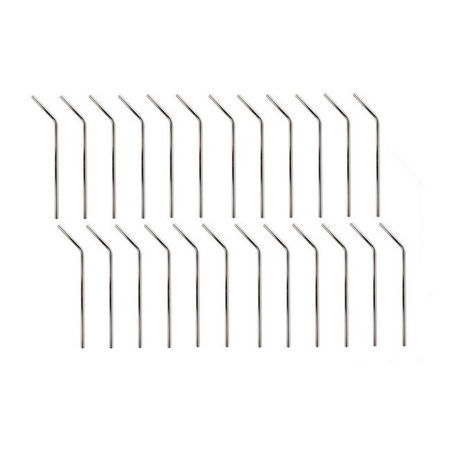 Mian Stainless Steel Drinking Straws 24 Pack with Cleaning Brush