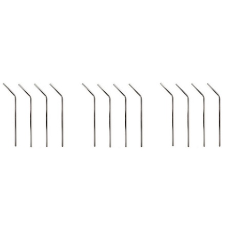 Mian Stainless Steel Drinking Straws 12 Pack with Cleaning Brush