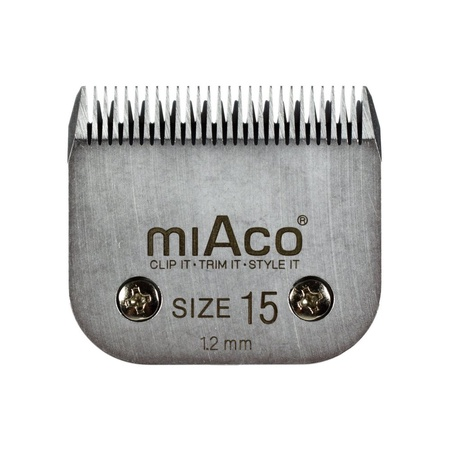 Miaco Size 15 Detachable Animal Clipper Blade fits Andis AG, AGC and Oster A5