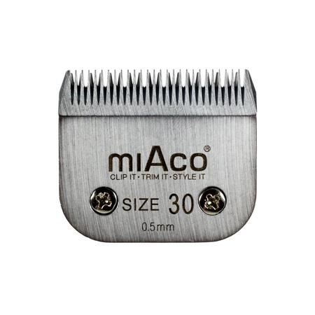 Miaco Size 30 Detachable Animal Clipper Blade fits Andis AG, AGC and Oster A5
