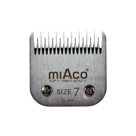 Miaco Size 7 Skip Tooth Detachable Animal Clipper Blade fits Andis AG, AGC and Oster A5