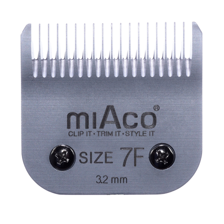 Miaco Size 7F Detachable Animal Clipper Blade fits Andis AG, AGC and Oster A5