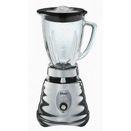 Oster 4655 Blender, Retro Chrome 3 Speed, 5 Cup Glass Jar