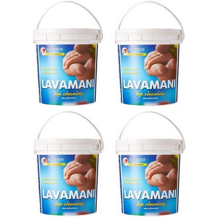 Pasta Lavamani 4000ml Mechanics Hand Cleaner from Italy 4 PACK