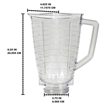 Plastic Blender Jar for Oster & Osterizer Blenders