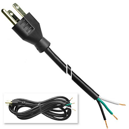 Power Cord, 8', 18awg, 3 Wire, Sjt