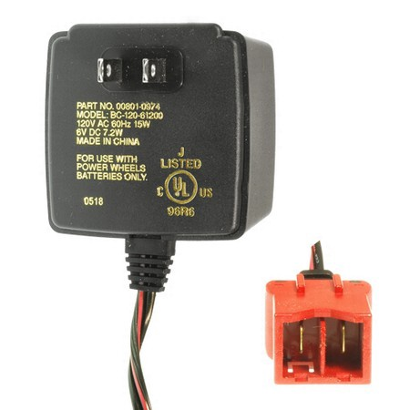 Power Wheels Battery Charger, 6 Volt, Type A Connector