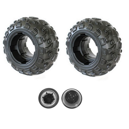 Power Wheels Two J5248-2359  Rear Wheels and Two Push Nut Retainer Caps fits Kawasaki Brute Force