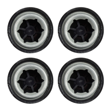 """Univen Push Nut Axle Caps .437 (7/16"""") Compatible with Power Wheels Toy Cars and More 4 Pack"""